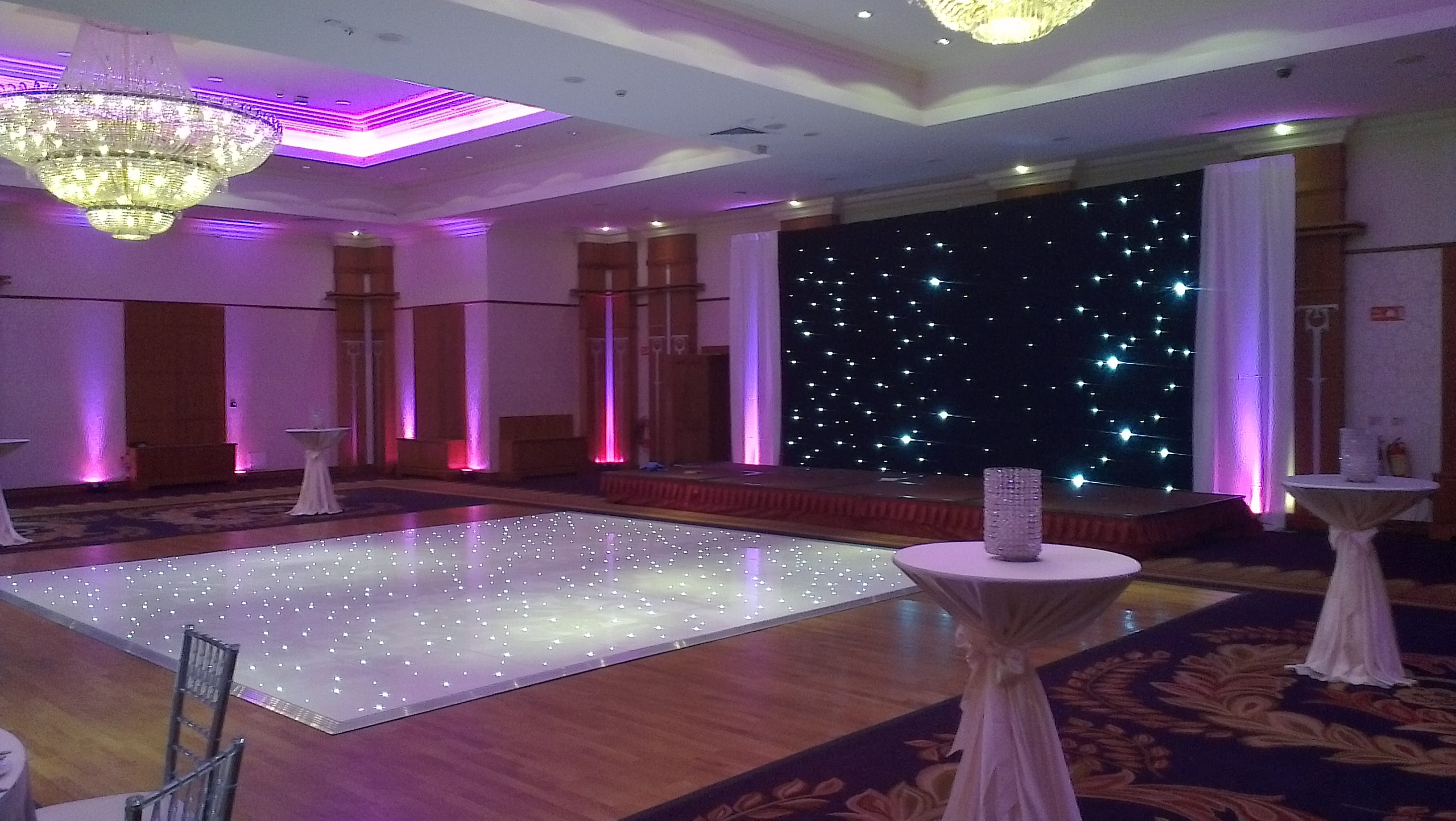 Fairy Light Backdrops Uplighters